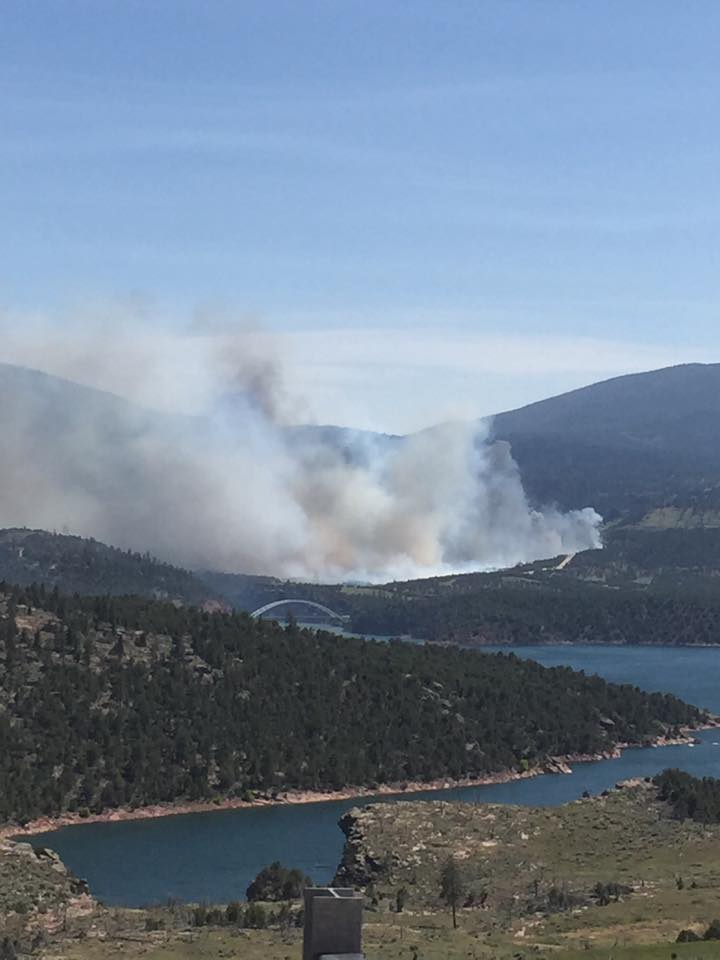 Forest Fire Burning at Fireman's Memorial