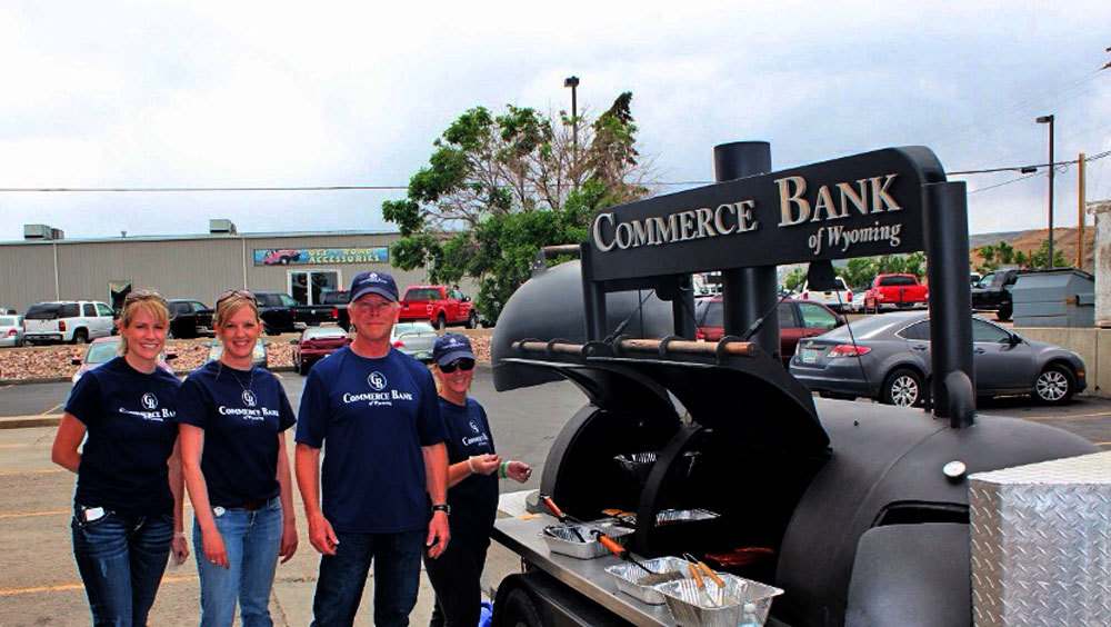 Commerce Bank of Wyoming will be grilling lunch at Young at Heart senior center for volunteer appreciation on Friday June 27