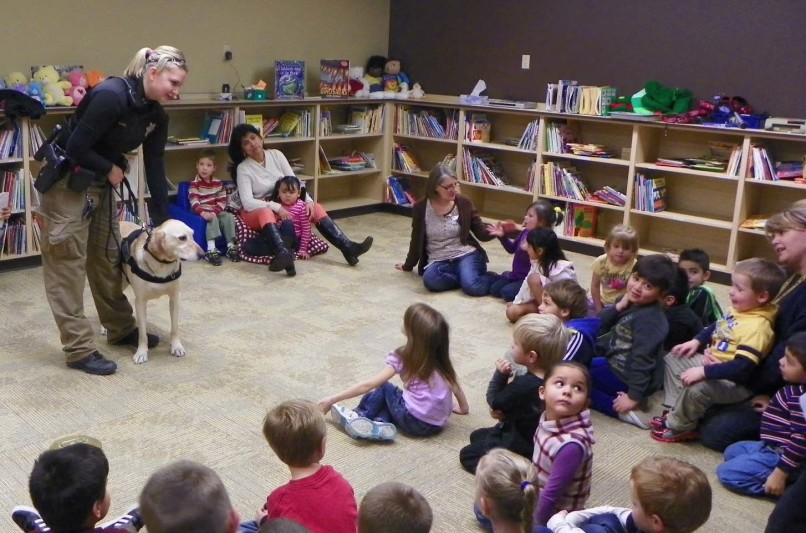 Deputy and K9 Partner Visit County CDC in Green River