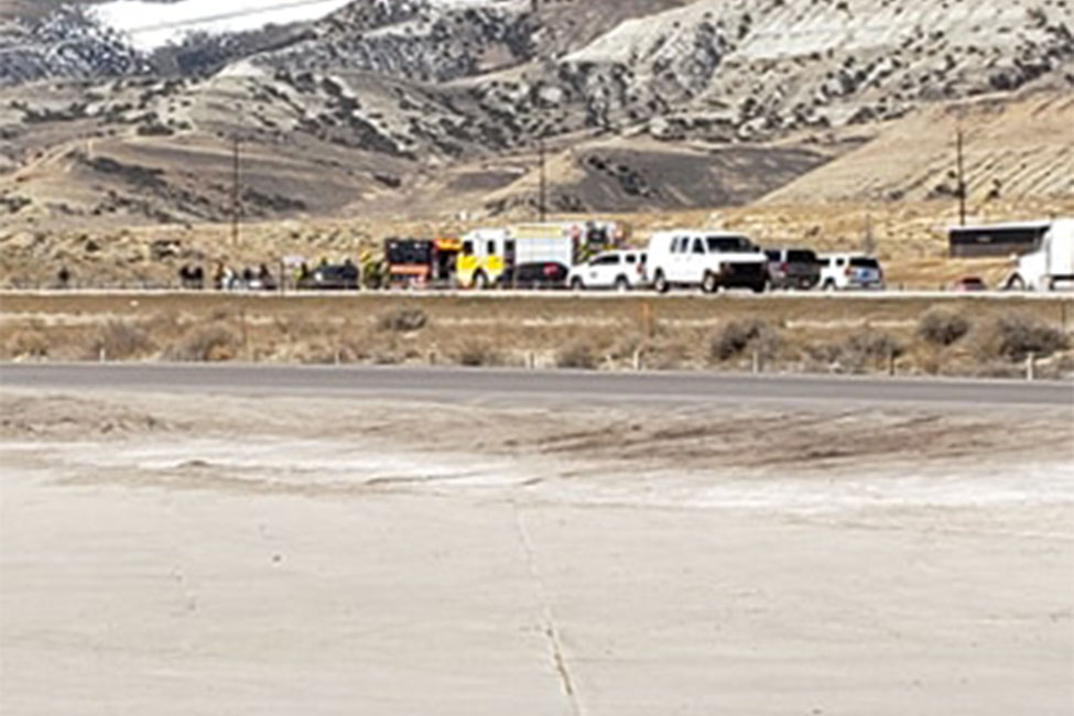 Collision Near Rock Springs Diverts I-80 Traffic