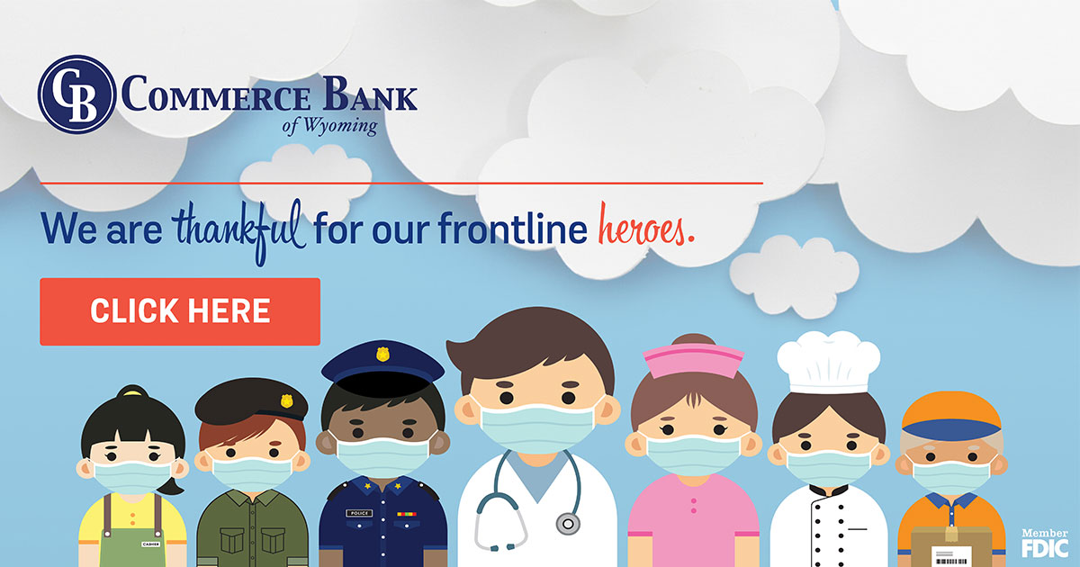 Commerce Bank of Wyoming Encourages Community to Send Gratitude to Frontline Workers