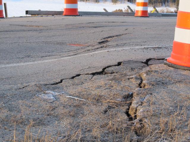 WYDOT Addressing Landslide Movement on US 191