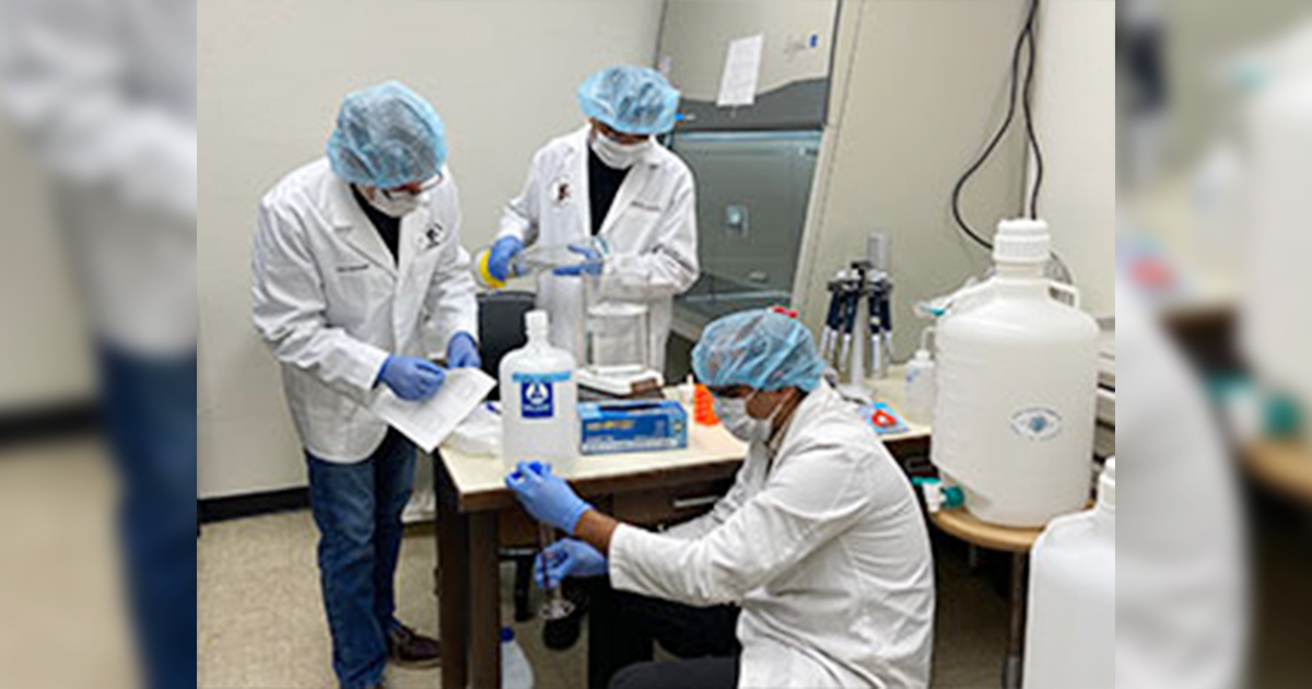 Hand Sanitizer Produced by UW School of Pharmacy Helps COVID-19 Supply Shortage