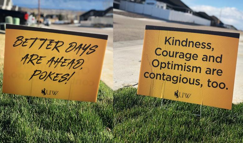 UW Uses Yard Signs to Spread Positivity Around Wyoming