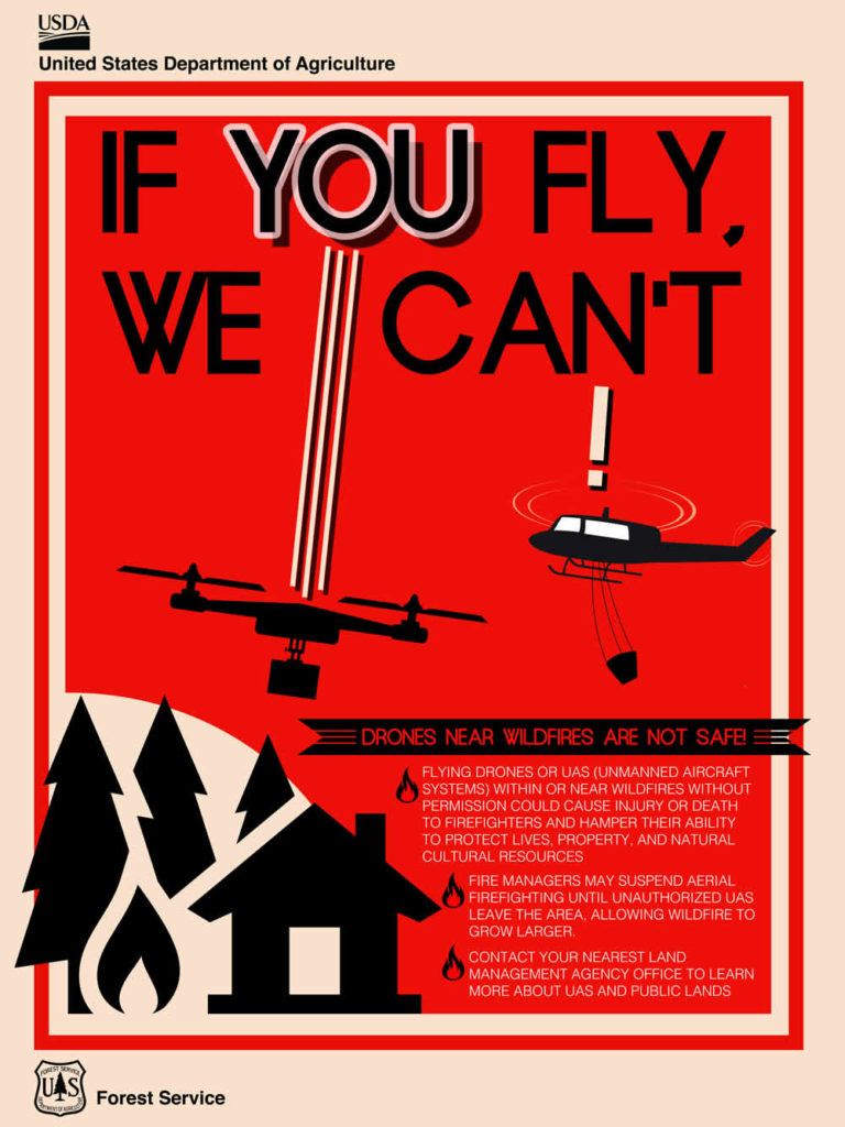 Federal Aviation Administration Warns Drone Operators Not To Fly Near Wildfires