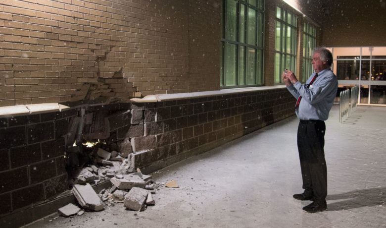 DUI Driver Damages Eastside Elementary