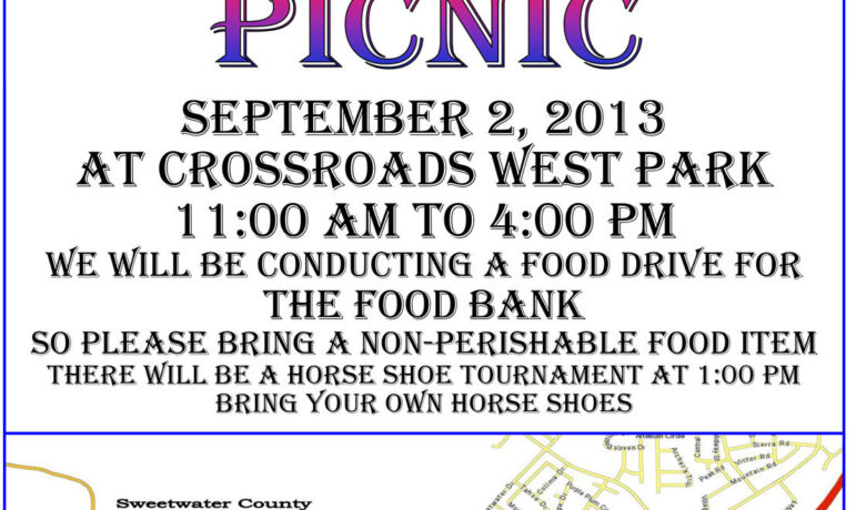 Labor Day Picnic to feature food drive
