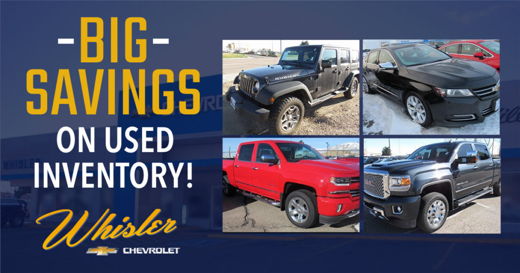 Save BIG on Used Inventory at Whisler!