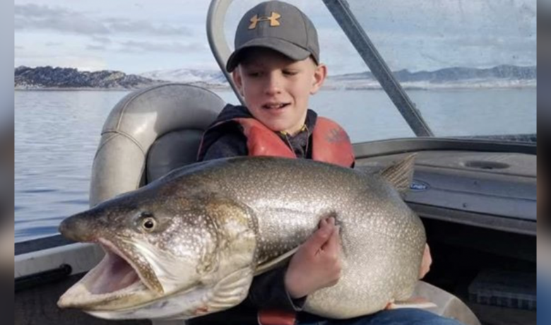 10-Year-Old Catches Monster Fish