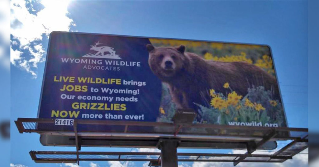 OPINION: Wyoming Wildlife Advocates New Billboard Highlights Economic Importance of Wildlife