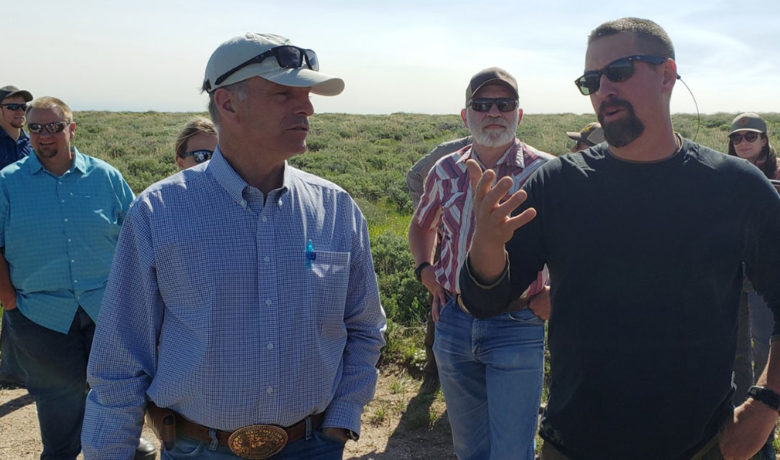 Governor Gordon Visits Greater Little Mountain Area in Sweetwater County