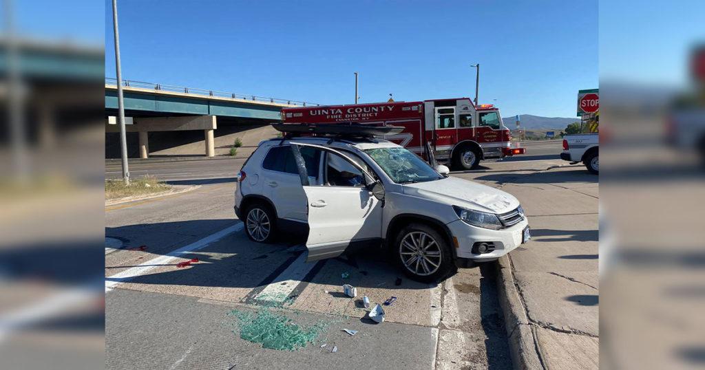 I-80 Traffic Diverted after a One-Vehicle Crash near Evanston