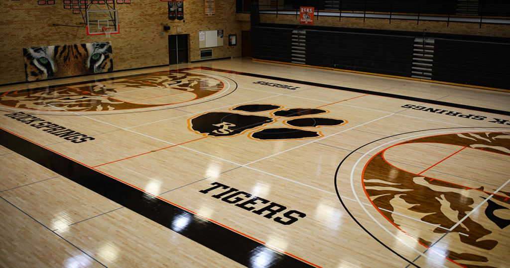 First Look: RSHS Shows off New Basketball Court