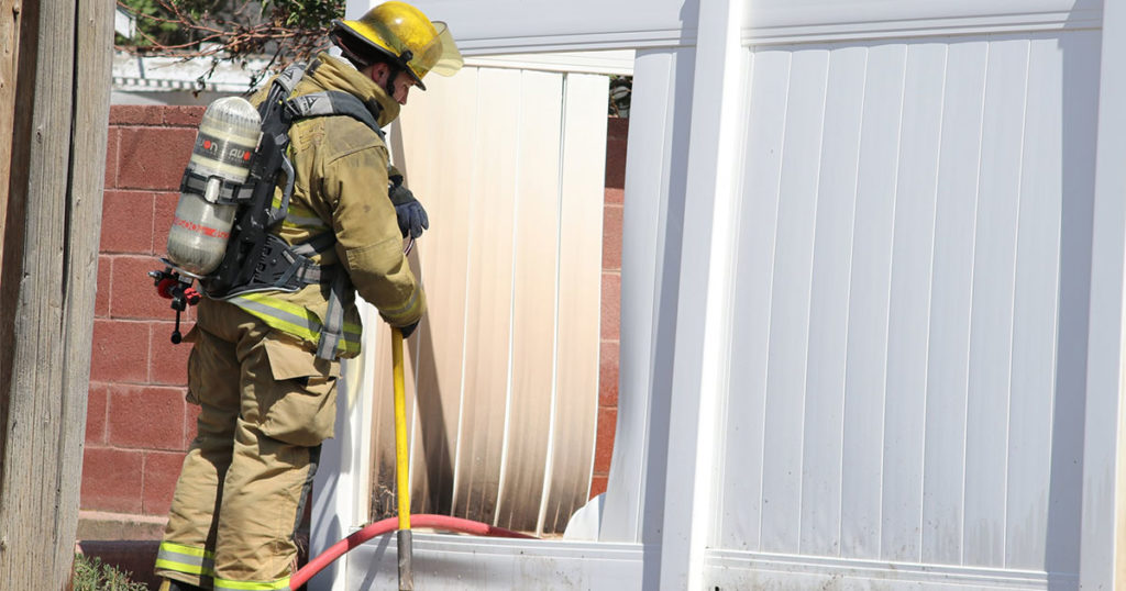 Green River Fire Department Extinguishes Fence Fire