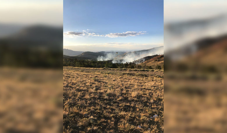 Wyoming Fire Crews Keep Active Bradley Fire in Check