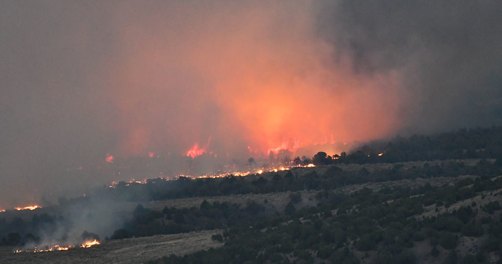Richard Mountain Fire 40 Percent Contained