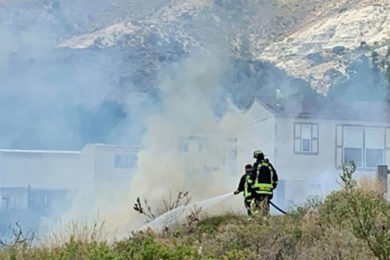 Mobile Home Catches on Fire on Antelope Drive in Rock Springs Saturday
