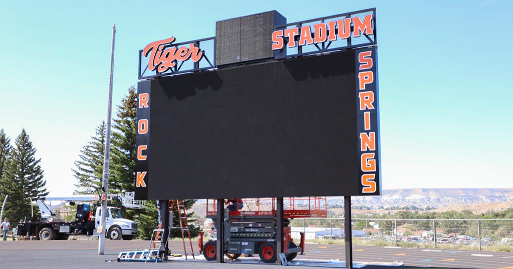 RSHS Completes New Field, Installs High-Tech Video Scoreboard