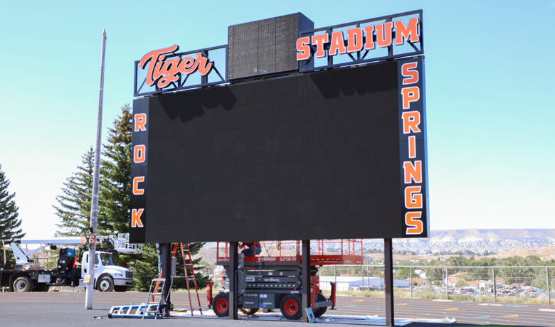 RSHS Completes New Field, Installs High-Tech Video Scoreboard