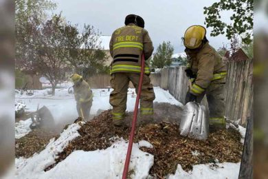 Green River Fire Department Puts out Mulch Fire