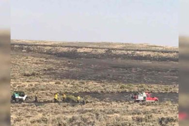 Fire near Hanna Mapped at Over 14,000 Acres Today