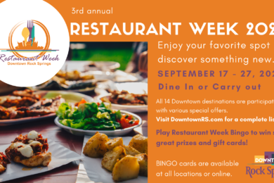 3rd Annual Restaurant Week Set to Showcase Dining in Downtown Rock Springs