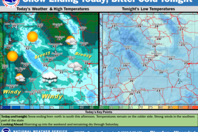 Widespread Snow with a High Near 33