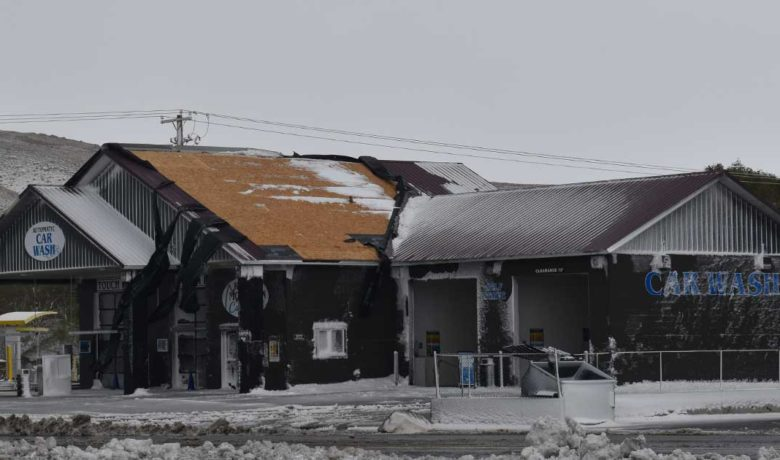 Strong Winds Cause Substantial Damage to Car Wash