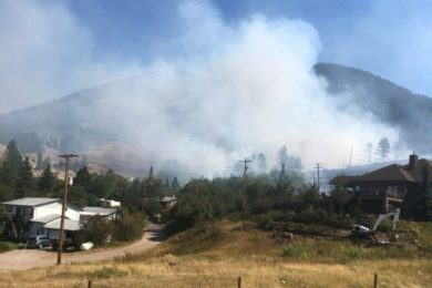 Wildfire Burning at Base of Casper Mountain; Evacuations in Progress