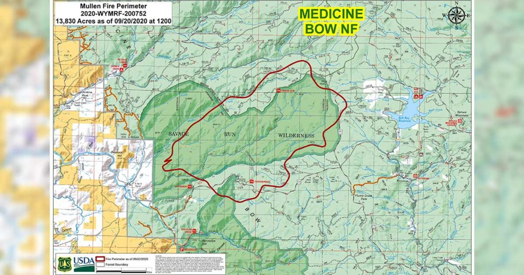 Mullen Fire Causes Evacuations Sunday, Expected to Grow Due to Strong Winds