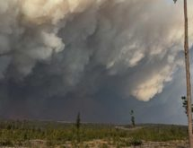 Cold Front Helps to Suppress Mullen Fire Growth, Remains at 78,000 Acres