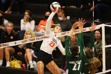 Lady Tigers Down Lady Wolves in Three Sets