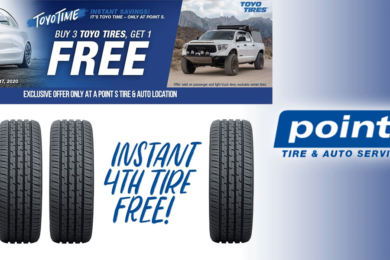 Buy 3 Get 1 FREE on Toyo Tires at Tire Den