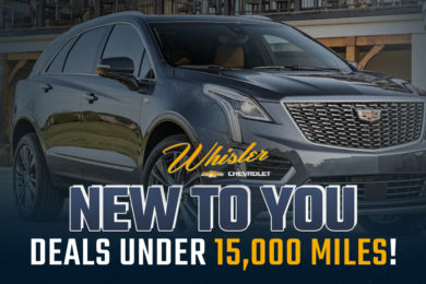 Save BIG on Vehicles Under 15,000 Miles at Whisler