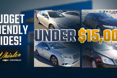 Deals On Wheels: 5 Pre-Owned Vehicles at Whisler Under $15,000