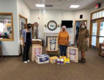 Young at Heart Receives Paper Goods, Supplies Donation