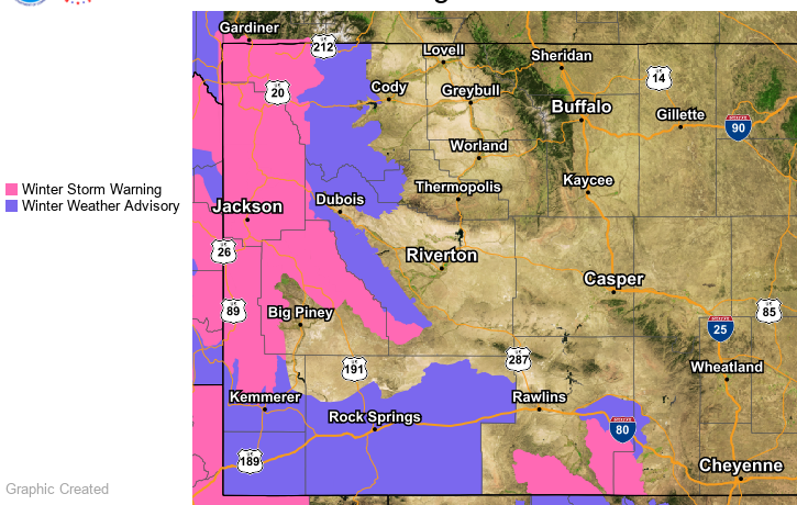 Sweetwater County Under Winter Weather Advisory Through Saturday Night