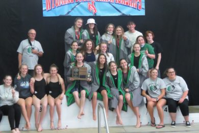Lady Wolves Swim Team to Return Home as State Champions