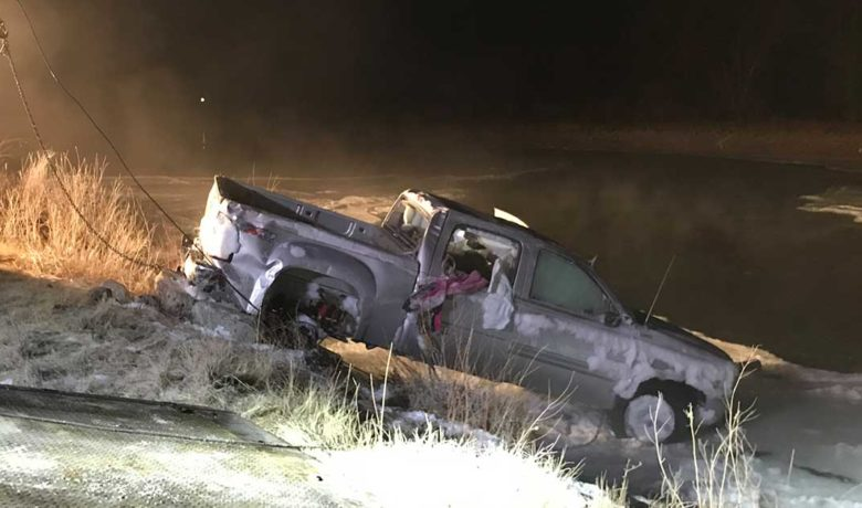 Sublette County Sheriff's Office and Tip Top Search and Rescue Respond to a Vehicle in Icy Water