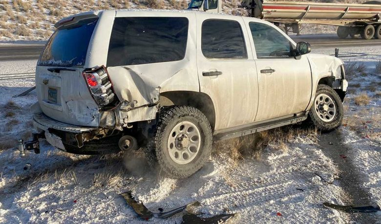 Sheriff Deputy's Vehicle Struck by Passing Driver