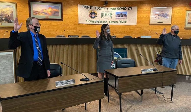 Green River City Council Members Take the Oath of Office