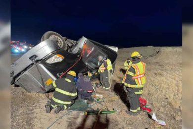 PHOTOS: Trapped Driver Rescued After Rollover on I80
