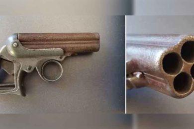 Museum Employees Research Frontier-era Four-Barrel Pocket Pistol