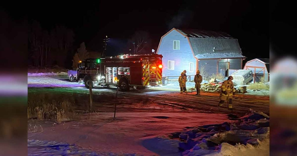 Sublette County Unified Fire Puts Out Chimney Fire