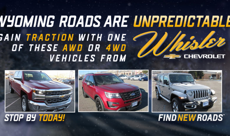Gain Traction in a 4WD or AWD Vehicle from Whisler Chevrolet Cadillac