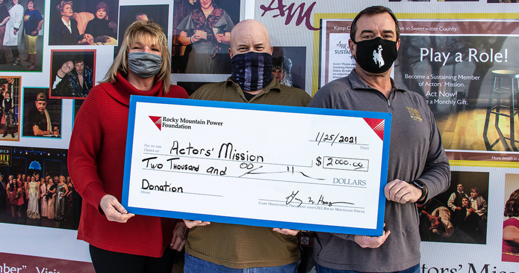 Rocky Mountain Power Foundation Donates $2,000 to Actors' Mission