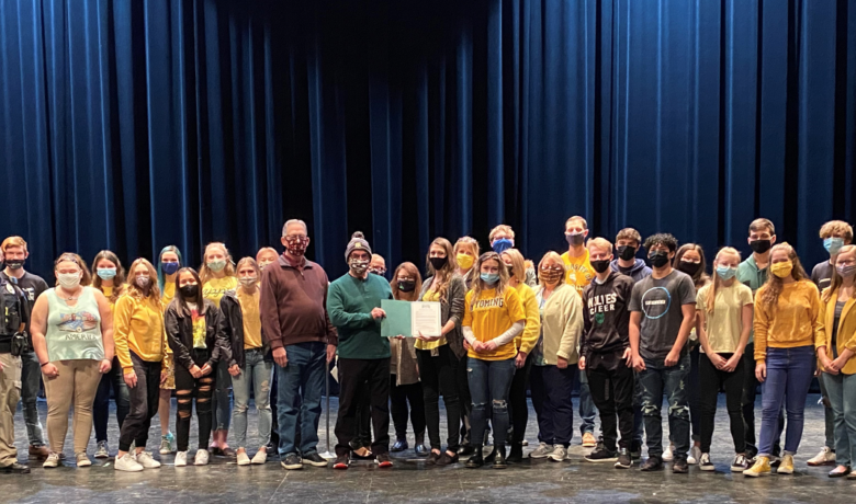 "Mayor Presents ""Day of Hope"" Proclamation to GRHS Suicide Prevention Program"