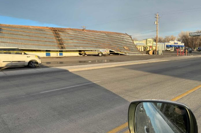 PHOTOS: Riverton Business Loses Roof in Strong Winds Monday Morning