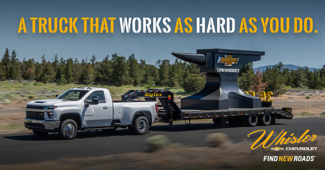 Match Your Vehicle to Your Work Ethic at Whisler Chevrolet Cadillac