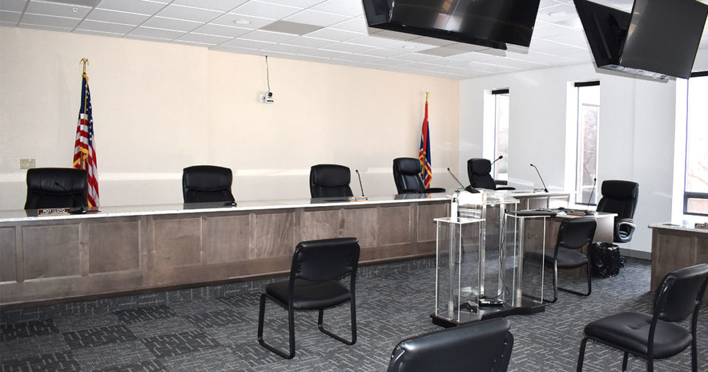 COVID-19 Funds Pay for Commissioner Meeting Room Remodel
